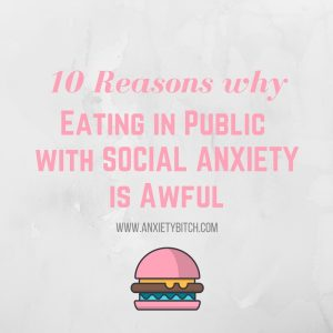 Eating in public with social anxiety